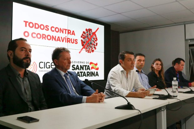 Coronavírus em SC: Governador decreta situação de emergência e anuncia medidas restritivas para evitar contágio